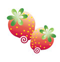 Strawbberries graphic arts Royalty Free Stock Photo