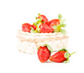 Strawberrie fresh fruits on the white background Stock Image