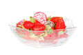 Strawberrie fresh fruits on the white background Royalty Free Stock Photos