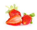 Strawberrie fresh fruits on the white background Stock Photo