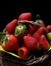 Strawberries basket Royalty Free Stock Photos