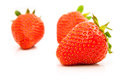 Strawberries berry isolated on white background Royalty Free Stock Image