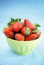 Strawberries in a bowl Royalty Free Stock Image