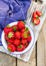 Strawberries in a Bowl . Royalty Free Stock Photo