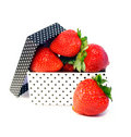 Strawberries in box Stock Photos