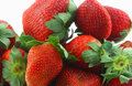 Strawberries a bunch of on white Royalty Free Stock Image