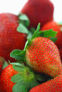 Strawberries a bunch of on white Royalty Free Stock Photography