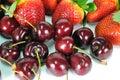 Strawberries and cherries Royalty Free Stock Photo