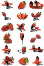 Strawberries collection. Royalty Free Stock Photo
