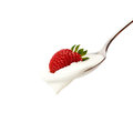 Strawberries with cream Royalty Free Stock Photo