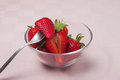 Strawberries cup italian fresh fruit Royalty Free Stock Images