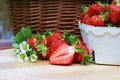 Strawberries fresh from the field Royalty Free Stock Images