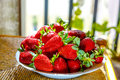 Strawberries fresh red ready to eat Royalty Free Stock Image