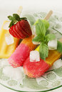 Strawberries and fruit ice with fresh Royalty Free Stock Photography