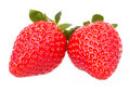 Strawberries fruits macro strawberry Royalty Free Stock Photo