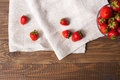 Strawberries in the glass bowl Royalty Free Stock Photo