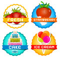 Strawberries - Ice Cream Royalty Free Stock Photo