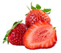 Strawberries isolated Royalty Free Stock Images