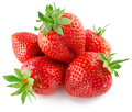 Strawberries isolated on the white background Royalty Free Stock Photo