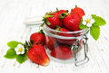 Strawberries in a jar Royalty Free Stock Photo