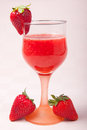 Strawberries juice in cup fresh and sweet traditional italian alcohol free drink Royalty Free Stock Photos
