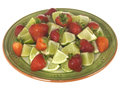 Strawberries with Limes Stock Photo