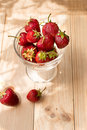 Strawberries lots of ripe red juicy on a blackboard Stock Image
