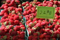 Strawberries in Market Royalty Free Stock Photo