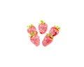 Strawberries in milk cream Royalty Free Stock Photo