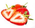 Strawberries over white Stock Photo