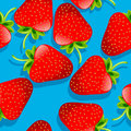 Strawberries pattern Stock Images