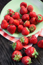 Strawberries on the plate Royalty Free Stock Photo