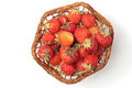 Strawberries in pottle Royalty Free Stock Photo