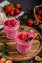 Strawberries pudding photo