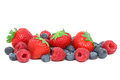 Strawberries, raspberries and blueberries Royalty Free Stock Photo