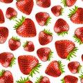 Strawberries seamless pattern Royalty Free Stock Photo
