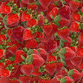Strawberries seamless texture tile from photo originals Stock Image