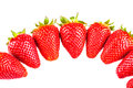 Strawberries semicircle a of ripe red isolated over a white background Royalty Free Stock Photos