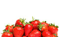 Strawberries on a tray on a white background Royalty Free Stock Image