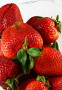 Strawberries, vertical Stock Photo