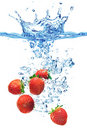 Strawberries in water Royalty Free Stock Photography