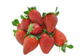Strawberries on white Royalty Free Stock Photo