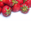 Strawberries on white background Royalty Free Stock Photos