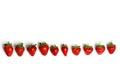 Strawberries on a white background Stock Photos