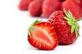 Strawberries on white Royalty Free Stock Photo