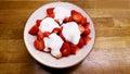 Strawberries and yogourt Royalty Free Stock Photo