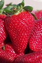 Strawberry background close up image Stock Image