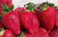 Strawberry background close up image Royalty Free Stock Photography