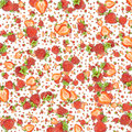 Strawberry background (on white) Stock Photos