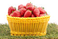 Strawberry in a basket Royalty Free Stock Photos